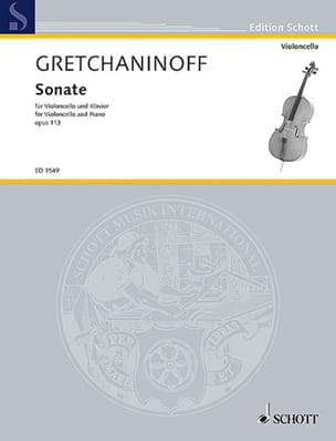 Sonate violoncelle op. 113 - Alexandre Gretchaninov - laflutedepan.com