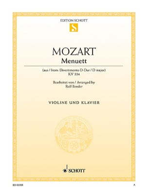 MOZART - Menuett D-Dur - Sheet Music - di-arezzo.co.uk
