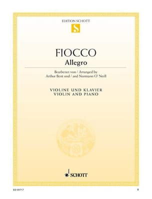 Joseph Hector Fiocco - Allegro - Sheet Music - di-arezzo.co.uk