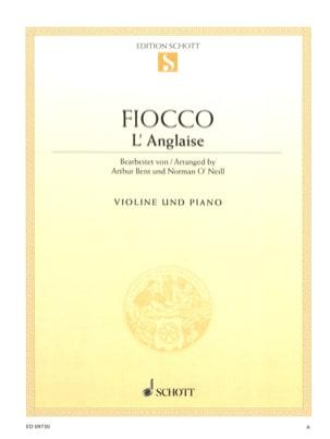 Joseph Hector Fiocco - L'anglaise - Partition - di-arezzo.fr