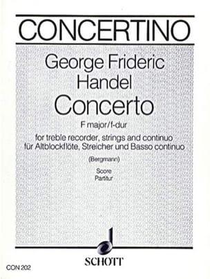 Blockflöten-Konzert F-Dur – Conducteur - laflutedepan.com