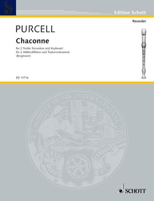 Henry Purcell - Chaconne - 2 Flutes Alto-Keyboard Beak - Sheet Music - di-arezzo.com