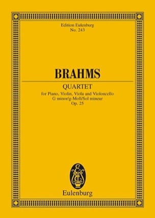BRAHMS - Klavier-Quartett g-moll - Sheet Music - di-arezzo.co.uk