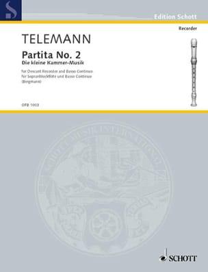 Georg Philipp Telemann - Partita Nr. 2 (Die kleine Kammer-Musik) - Partition - di-arezzo.fr