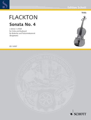 Sonata in C minor n°4 - William Flackton - laflutedepan.com