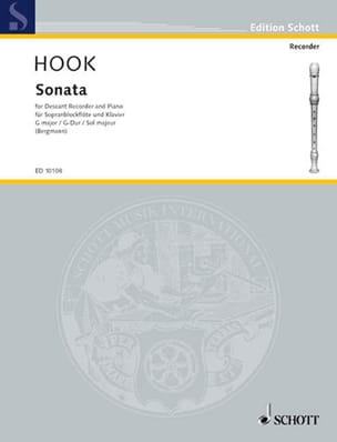 James Hook - Sonata G-Dur - Sopranblockflöte u. Klavier - Sheet Music - di-arezzo.co.uk