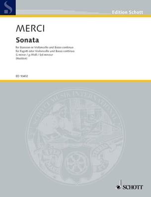 Luigi Merci - Sonata G-moll, op. 3 Nr. 4 -Fagott o. Cello u. Bc - Partition - di-arezzo.fr