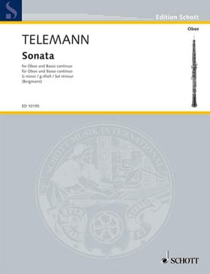 TELEMANN - Sonate en Sol Mineur - Partition - di-arezzo.fr