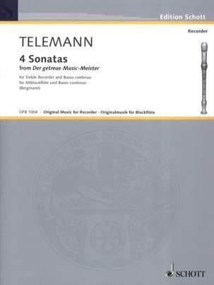 Georg Philipp Telemann - Sonatas Nr. 1-4 – Altblockflöte u. Bc - Partition - di-arezzo.fr