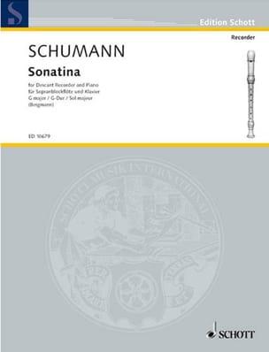 Sonatine G-Dur - SCHUMANN - Partition - Flûte à bec - laflutedepan.com