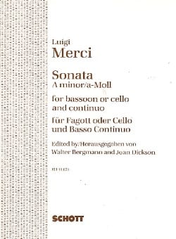 Luigi Merci - Sonate a-moll op. 3 Nr. 6 - Fagott o Cello u. Bc - Sheet Music - di-arezzo.com