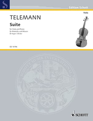 TELEMANN - D-Dur Suite - Viola - Sheet Music - di-arezzo.co.uk