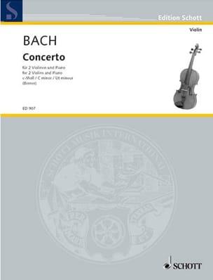 Concerto c-moll -2 Violinen Klavier BACH Partition laflutedepan