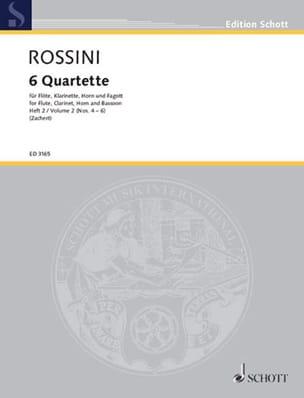Gioacchino Rossini - 6 Quartette - Heft 2 (: Nr. 4-6) –Flöte Klarinette Horn Fagott - Stimmen - Partition - di-arezzo.fr