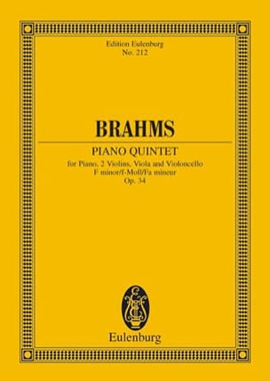 BRAHMS - Klavier-Quintett F-Moll, Op. 34 - Sheet Music - di-arezzo.co.uk