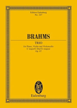 Klavier-Trio C-Dur - BRAHMS - Partition - laflutedepan.com