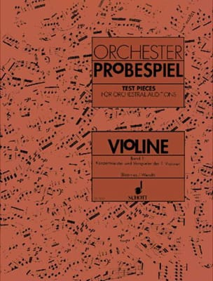 Boerries Karin / Wendt Artur - Orchester-Probespiel - Violine Bd. 1 - Sheet Music - di-arezzo.co.uk