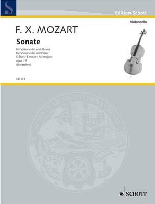 Franz Xaver Mozart - Sonate mi majeur op. 19 - Partition - di-arezzo.fr