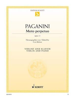 Niccolò Paganini - Moto Perpetuo op. 11 - Partitura - di-arezzo.it