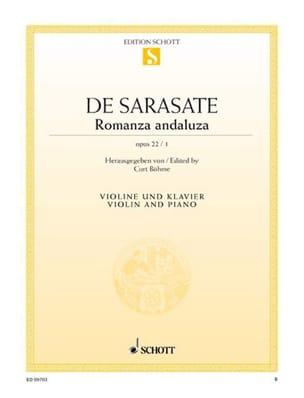 Pablo de Sarasate - Romanza Andaluza op. 22 n ° 1 - Sheet Music - di-arezzo.com