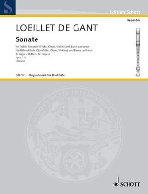 Sonate B-Dur op. 3 n° 2 – Altblockflöte u. Bc - laflutedepan.com