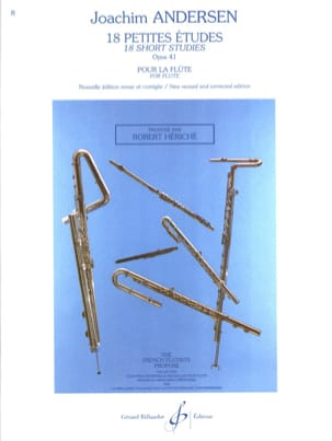 Joachim Andersen - 18 Small Studies Op. 41 - Sheet Music - di-arezzo.co.uk