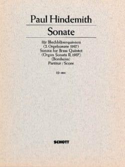 Sonate - Brass quintet – Score - Paul Hindemith - laflutedepan.com