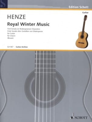 Hans Werner Henze - Royal Winter Music - Partition - di-arezzo.fr