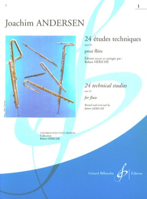 Joachim Andersen - 24 Technical Studies op. 63 - Volume 1 - Sheet Music - di-arezzo.com