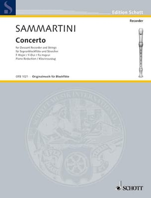 SAMMARTINI - Concerto F-Dur for Sopranblockflöten - Blockflöte Klavier - Sheet Music - di-arezzo.co.uk