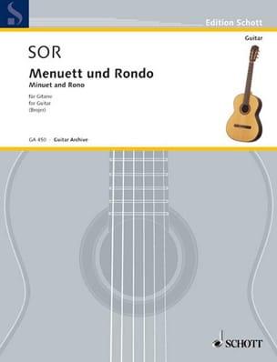 Menuett und Rondo aus Sonate op. 22 SOR Partition laflutedepan