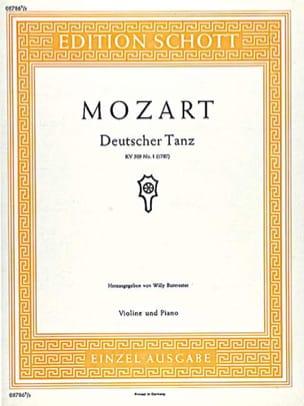 Deutscher Tanz KV 509 n° 1 – Violine Klavier - laflutedepan.com