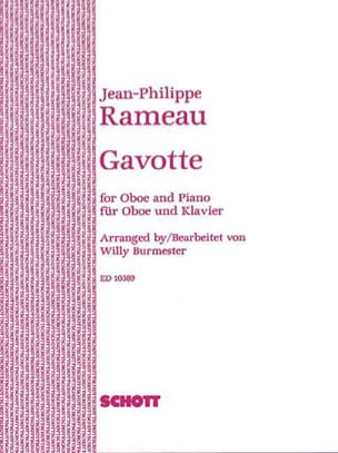 Jean Philippe Rameau - Gavotte –Oboe piano - Partition - di-arezzo.fr