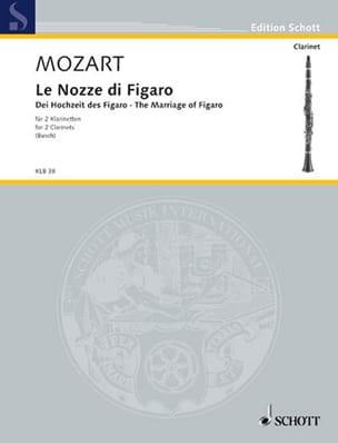 Le Nozze Di Figaro - 2 Clarinettes MOZART Partition laflutedepan