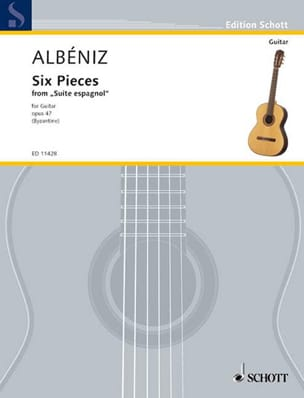 6 Pieces Isaac Albeniz Partition Guitare - laflutedepan