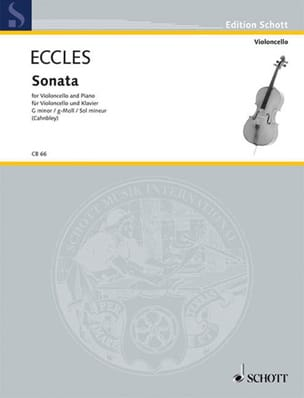 Henry Eccles - Sonate G-Moll - Partition - di-arezzo.fr