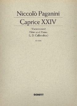 Paganini Niccolò / Callimahos Lambros Demetrios - Caprice n° 24 - Flöte u. Piano - Partition - di-arezzo.fr
