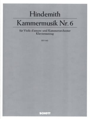 Kammermusik Nr. 6 – Viola d'amore Klavier - laflutedepan.com
