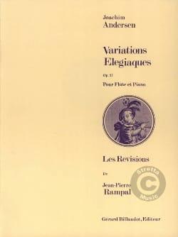 Variations élégiaques op. 27 Joachim Andersen Partition laflutedepan