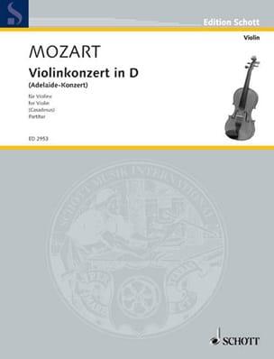 MOZART - Violin-Konzert in D-Dur Adelaide-Konzert - Partitur - Partition - di-arezzo.fr