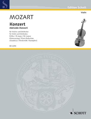 MOZART - Concierto para violín en re mayor - Partitura - di-arezzo.es