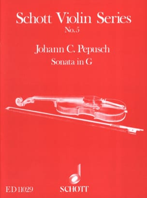 Sonata G-Dur Johann Christoph Pepusch Partition Violon - laflutedepan