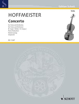 Franz Anton Hoffmeister - Concerto In B Flat Major - Sheet Music - di-arezzo.com