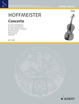 Franz Anton Hoffmeister - Concerto en si bémol majeur - Partition - di-arezzo.fr