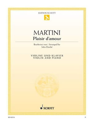 Plaisir d'amour - Jean Martini - Partition - Violon - laflutedepan.com