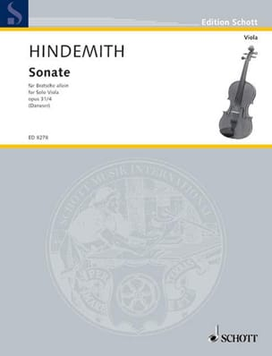 Paul Hindemith - Sonate op. 31 n°4 - Partition - di-arezzo.fr
