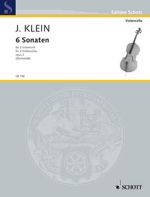 6 Sonates - Opus 2 - Jacob Klein - Partition - laflutedepan.com