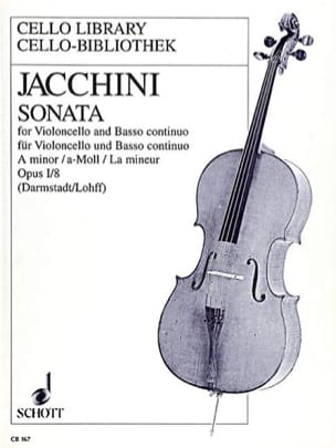 Sonata A-Moll Op.1/8 - Giuseppe Jaccini - Partition - laflutedepan.com