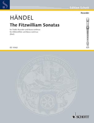 Georg Friedrich Haendel - The Fitzwilliam Sonatas - Partition - di-arezzo.fr