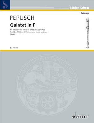 Quintett F-Dur –2 recorders 2 violins Bc - laflutedepan.com